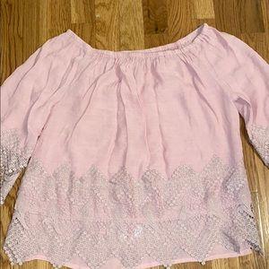 flowy pink shirt